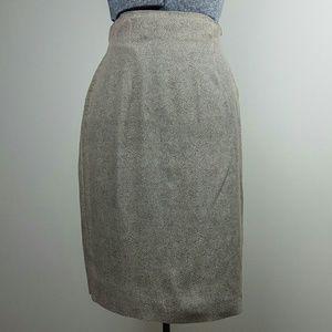 Vintage Tan Pencil Skirt